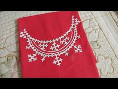 Embroidery Neck Designs, Embroidery Stitches Tutorial, Hand Work Embroidery, Kutch Work Designs, Anchor Threads, Mirror Work, Blouse Designs, Tapestry, Sewing