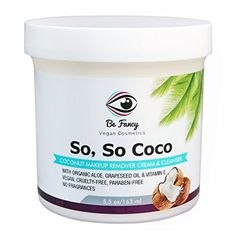 So So Coco Makeup Remover Cleanser Cream 55 oz Moisturizing and NonIrritant with Aloe Vitamin E for Face Lips Eyes Sensitive Dry Skin Vegan FragranceFree -- Continue to the product at the image link. (This is an affiliate link) Makeup Remover, Vitamin E For Face, Dry Sensitive Skin, Dry Skin, Best Waterproof Mascara, Face Cream For Wrinkles, Diy Skin Care, Face Cleanser
