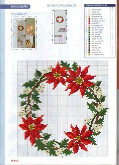Cross-stitch Christmas Wreath ...   http://ytkolobok77.gallery.ru/