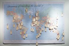 """Wishing Travel Map...might use at the wedding """"Where Should We Travel Together?"""""""