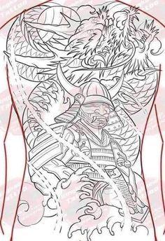 Japanese Tiger Tattoo, Japanese Dragon Tattoos, Tattoo Samurai, Hammer Tattoo, Blackout Tattoo, Full Back Tattoos, Japan Tattoo, Tattoo Stencils, Mini Tattoos