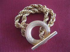 Napier Goldtone Toggle Bracelet  Vintage by GotMilkGlassAndMore, $9.88