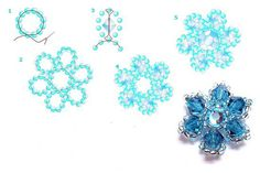 A pattern for flower bracelet