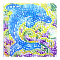 dolphin art for kids | 4M Window Mosaics Dolphin - Mosaic by Number at Crafts4kids