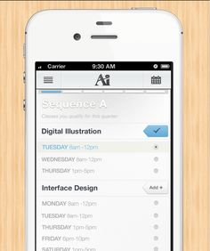 I like that the designer look to tackle a difficult problem of designing for class registration on the mobile.