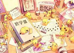 book brown hair foongus n pikachu pokemon torute touko (pokemon) wallpaper background