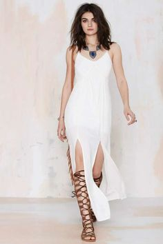 Aphrodite Crepe Maxi Dress