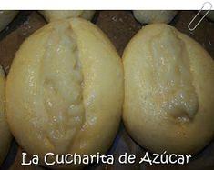 La cucharita de azúcar: Panes dulces rellenos con crema Elba, Relleno, Baked Potato, Potatoes, Baking, Ethnic Recipes, Spoons, Sweet Bread, Candy Stations