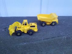 Hot Wheels Loader And Dump Truck Diecast Car Construction Vehicles Vintage 1979 #HotWheels