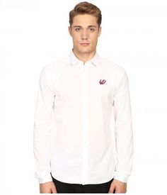 McQ - Harness Shirt (Optic White) Men's Long Sleeve Button Up