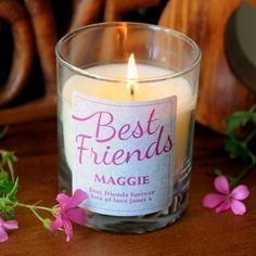 Personalised best friends scented candle #bestfriends #womensgifts #scented #thepersonalisedgiftshop £14.99