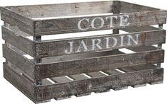 Caisse en bois côté jardin 55x36x30cm : Caisse de récolte AUBRY GASPARD sur Jardindeco.com 49 €
