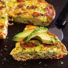 Paleo Bacon Zucchini & Red Pepper Frittata - Low Carb