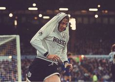 Steve Sedgley celebrates after scoring  for Spurs.  A relatively rare sight