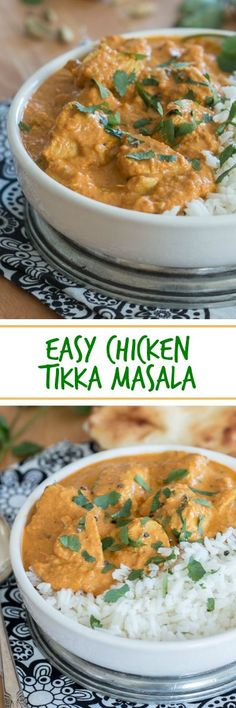 Tender, flavorful chicken in a richly spiced sauce makes this easy Chicken Tikka Masala a serious crowd pleaser. Serve with rice and naan to help you enjoy every last drop! A great recipe for parties. #dinnerrecipe #dinner #tikkamasala