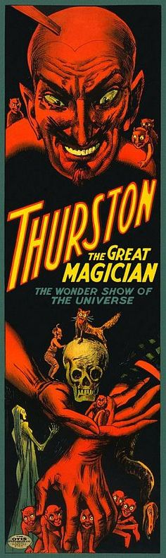 the wonder show of the universe ( magic / magician / vintage poster)