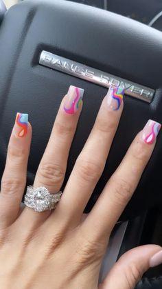Plain Acrylic Nails, Classy Acrylic Nails, Short Square Acrylic Nails, Cute Acrylic Nail Designs, Acrylic Nails Coffin Short, Summer Acrylic Nails, Best Acrylic Nails, Tapered Square Nails, Exotic Nails