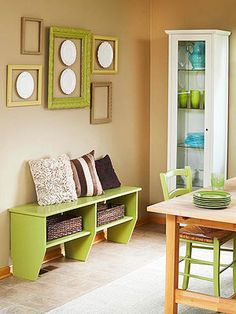 Put It On Display ~ Use thrift store frames and paint them in coordinating colors for wall drama.