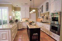 terracotta floor kitchen - Google Search