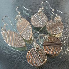 Tutorial Easy Textured Earrings Pattern made with Silver Clay PMC or Art Clay DIY Jewelry Supply Supplies Metal Clay PDF File Beginner