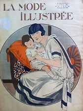 FLAPPERS /NURSE Apr 6, 13 & March 30,1924,ORIGINAL MODE ILLUSTREE+SEWING PATTERN