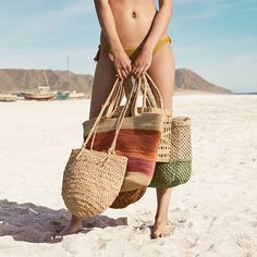 Swimwear and beachwear - Accessories - Trends in women fashion Summer Sale, Summer Beach, Baskets, 2017 Image, Soft Autumn, Beachwear, Swimwear, Spring Summer Fashion, Tote Bag