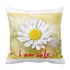 Abby Wynne Collection: I am safe. Pillow http://www.zazzle.com/abby_wynne_collection_i_am_safe_pillow-189213301753030012?rf=238937033046134636 #inspiration #motivation #meditation #yoga #spirituality #safe #healing