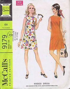 "Vintage Sheath Dress 1960s Sewing Pattern McCall 9179 Sz 16 Bust 38 Hip 40"" Cut | eBay"