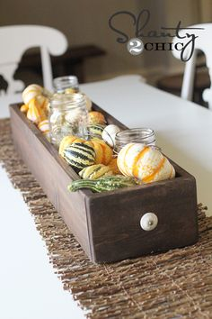 table centerpiece for fall