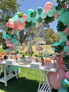 Flamingo Birthday Party by Bizzie Bee Creations tropical party ideas Lila Party, Festa Party, Bee Party, Party Box, 13th Birthday Parties, Luau Birthday, 18 Birthday Party Themes, Pool Party Themes, Colorful Birthday Party