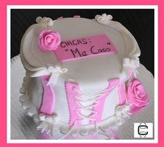 BRIDAL SHOWER CORSET CAKE (Pastel para despedida de soltera con forma de corset)