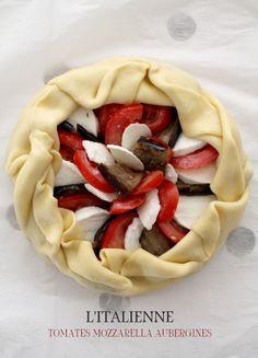 Tomates, mozzarella, aubergines, une tarte à l'italienne - Miss Blemish
