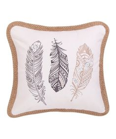 Dress up your bedding or sofa with this throw pillow boasting a decor-complementing pattern.