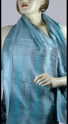 Blue Shaded Silk Stole