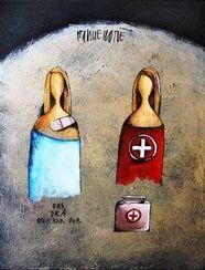 pinterest hanlie kotze - Google Search Acrylic Painting Techniques, Mother And Child, Art Forms, Illustration Art, Palette, South Africa, Creative, Watercolour, Van