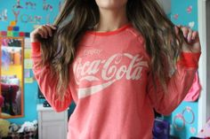 Coca-Cola sweatshirt ♡   teen • fashion • style, cute • cozy • clothes • top • shirt • winter • autumn • fall • cold • weather