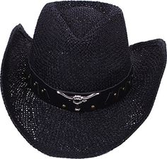 1be514c6f43 AMC Western Classic Cowboy Straw Hat Studded Leather Bull Band ST029     Read more reviews. Western CowboyCowboy HatsWestern StyleMens CapsBurberry  ...