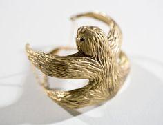 Sloth Bracelet  Sloth Jewelry  Sloth Cuff  Sloth door jtopolski