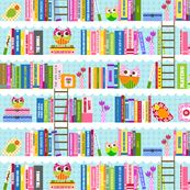 Library - Nancy by natitys, Spoonflower digitally printed fabric, wallpaper, and gift wrap