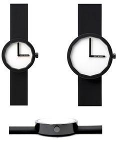 Issey Miyake 'Twelve' watch - designed by Naoto Fukasawa Naoto Fukasawa, Engineer Prints, Stuff And Thangs, Old Models, Issey Miyake, Shades Of Black, Digital Prints, Watches For Men, How To Look Better