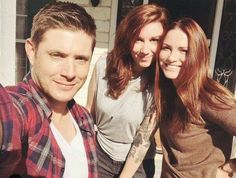 Jensen with fans