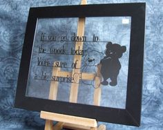 "A beautiful hand cut papercut. This papercut, consisting of words from ""The Teddy Bears Picnic"", has been carefully hand cut from pearlescent black paper. The finished papercut has then been mounted between two panes of glass in a Black Paper, Teddy Bears, Beautiful Hands, Paper Cutting, Fun Crafts, Baby Kids, Picnic, Handmade Gifts, Etsy"