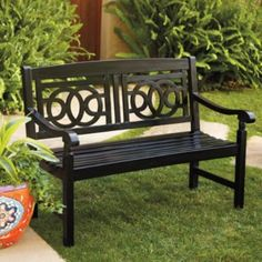 The Amalfi Bench would look great both indoors or out!.I would use it in my sunroom.  Grandinroad