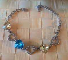 Cute silver plated crystal bracelet  by Rossanascorner on Etsy, $11.50