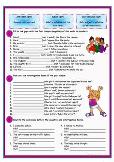 Past Simple of regular verbs worksheet - Free ESL printable worksheets made by teachers