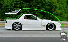 RX7 FC3S turning into pick up.