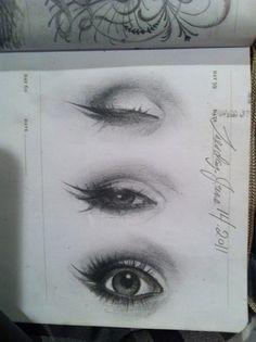 Kat Von D's Eye Sketches