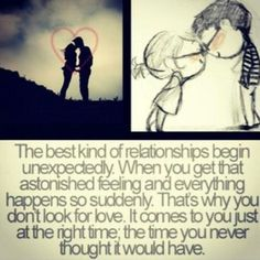 love happens when you least expect it