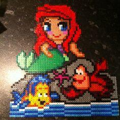 Ariel The Little Mermaid hama beads by emelia_mickey_wood_13