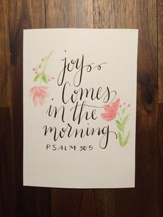 Psalm 30:5 Print by SugarPaperStudio on Etsy